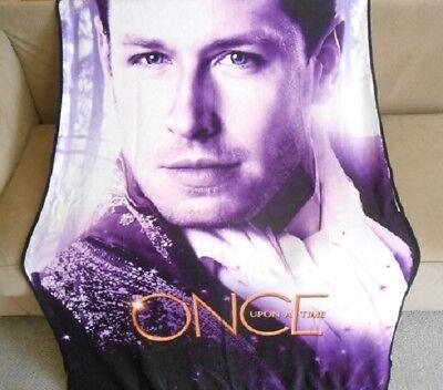 New Prince Charming Once Upon a Time Plush Throw Gift Blanket David Nolan Purple ()