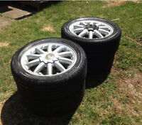 """17"""" tires and alloy rims"""