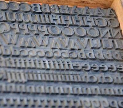 Bleischrift 11,5 mm Bleisatz Buchdruck Handsatz Alphabet Schrift Letter Lettern