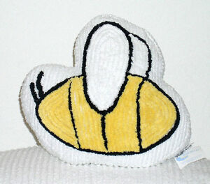 BLUE-MOON-White-Chenille-BEE-PILLOW-NEW