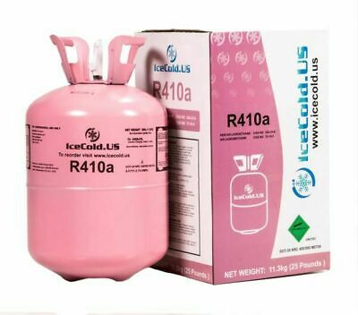 R410a, R410a Virgin, Factory Sealed Refrigerant 25lb tank. New Factory Sealed