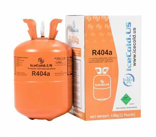 (Q1)Cylinder R404a, R404, R-404, 404a Refrigerant *11lb* Full and Factory Sealed