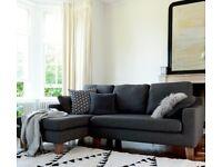 Dwell Ankara Left Hand Corner Sofa Truffle | RRP £1,199