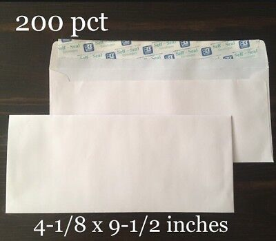 200 Ct 10 Self-seal Security Mailing Envelopes White Letter 4-18 X 9-12