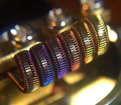 2 KPN80 6 Ply Staple Staggered Fused Clapton Coils + Free Coils (Alien Killer)