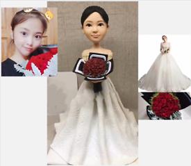 Custom Handmade Your 3D Minime Art Doll loving roses lady