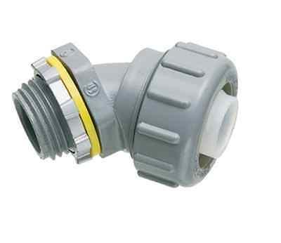 """LOT OF 5:ARLINGTON NMLT45100 1"""" Liquidtight Flexible Conduit Connector 45-Degree"""
