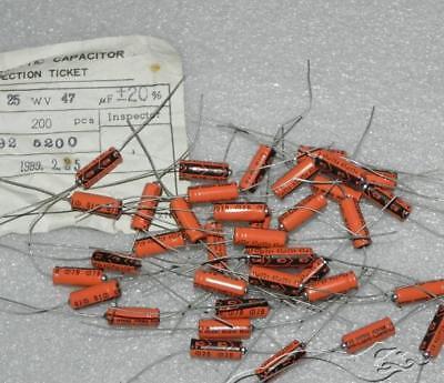 25v47uf Aluminum Electrolytic Capacitor Orange Axial Hifi Audio Capacitors