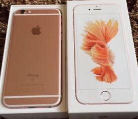 Apple Iphone 6s Rose Gold 16GB. Immaculate condition, UNLOCKED TO ALL NETWORKS.