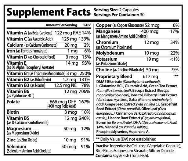 Constant Concentration Plus, Advanced IQ Brain Supplement 60 Capsules 1