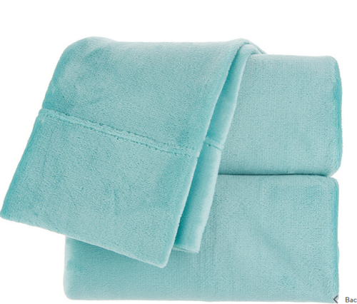 Berkshire Blanket Velvet Soft Cozy Sheet Set-Seaglass-Twin-N