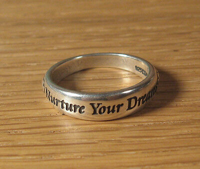 nurture your dreams band ring 925 sterling