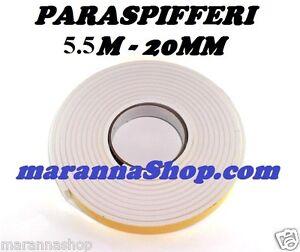Paraspifferi 5mx20mm guarnizione adesiva gomma bianca - Paraspifferi per finestre ...