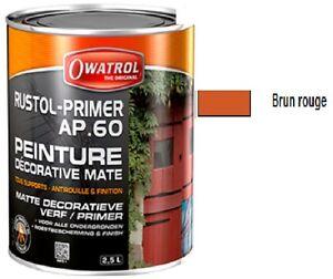 Peinture fer sous couche antirouille rustol primer ap60 for Peinture sur fer