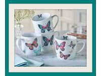 Beautiful Brand new butterfly mugs