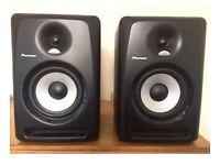 A PAIR OF PIONEER S-DJ60X MONITOR SPEAKERS. RRP £340