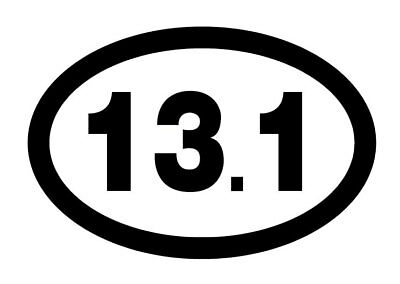 (13.1 Marathon Decal Car Window Runner Run Training Gift Sticker *60 COLORS*)