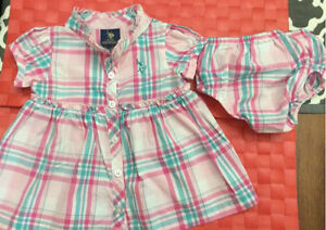 Cute U.S. Polo Assn baby girl dress 0-3 months