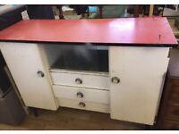 Retro vintage kitchen unit storage cupboard
