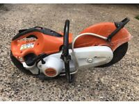 Used Stihl stone cutter with dust suppresant