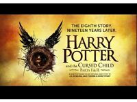 Harry Potter and the Cursed child stalls ticket Sun 30th October Halloween weekend.FREE HP GIFT