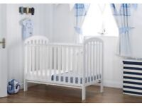 Perfect Condition - Obaby White Cot Bed (with mattress)