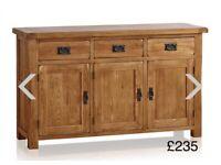 Rustic Solid Oak Livingroom Furniture (items may be sold separately)