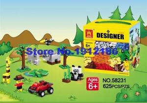I Need That! Wange 58231 625 Pcs Bulk Brick Building Blocks! 625 Pieces DIY Educational Creative Kid Brcks