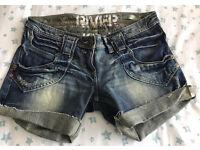 C river island denim shorts 12 (reserved)