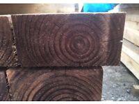 Tanalised Brown Timber Sleepers //