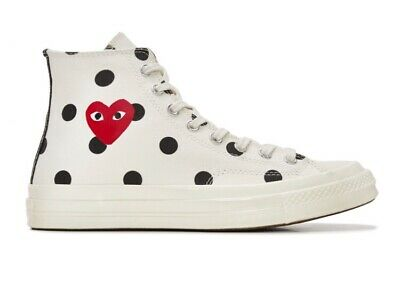 Play Converse Polka Dot Chuck Taylor All Star '70 High (White) Comme des
