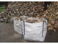 Ton bags of logs