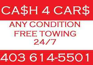 FASTEST REMOVAL AND CASH ALL AUTOS CALL 403 614 5501 $$
