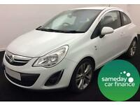 £136.54 PER MONTH WHITE 2013 VAUXHALL CORSA E/F SE 3 DOOR DIESEL MANUAL