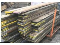 Various sizes used scaffold boards