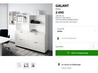 Ikea Galant Office Storage Combination with Filing Cabinet / Cupboard / Shelves