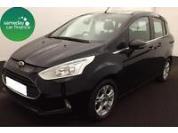 £184.85 PER MONTH BLACK 2014 FORD B-MAX 1.5 TDCi ZETEC 5 DOOR DIESEL MANUAL
