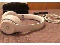 Beats Solo3 Wireless On-Ear Headphones, Gloss White, As New