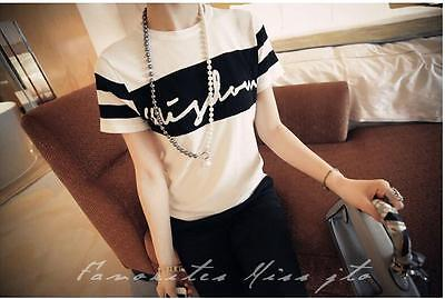 Fashion Tee RoundNeck Top Short Sleeve Womens