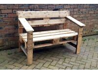 Handmade Bench Made to order Garden furniture