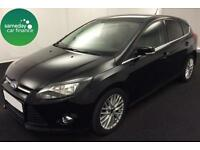 £171.14 PER MONTH BLACK 2012 FORD FOCUS 1.0 ECOBOOST ZETEC PETROL MANUAL
