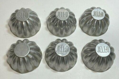 Set of 6 Vintage Tin Jello Mold Aluminum Mini Small Cake Molds Tart Baking Pans