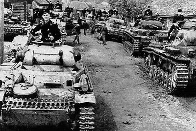 German Panzer Tanks in Russia 4X6 World War II WW2 Photo - German Tanks World War Ii