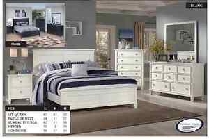 Mobilier chambre a coucher blanc acheter et vendre dans for Mobilier chambre blanc