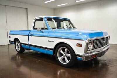 1972 Chevrolet C-10 Custom Deluxe 1972 Chevrolet C10 Custom Deluxe 41195 Miles Light Blue Pickup Truck 350 Chevrol