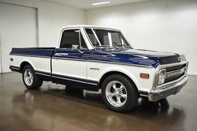 1969 Chevrolet C-10  1969 Chevrolet C10  27654 Miles Blue / White Pickup Truck 350 Chevrolet V8 Turbo