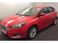 FORD FOCUS RED 1.6 TI-VCT 125 TITANIUM P/S HATCHBACK PETROL FROM £41 PER WEEK!