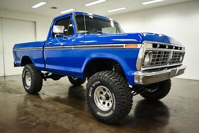 1975 Ford F-100  1975 Ford F100  276 Miles BLUE Pickup Truck 390 Ford V8 4 Speed  Manual