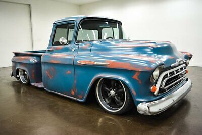 1957 Chevrolet Other Pickups  1957 Chevrolet 3100  3245 Miles Blue & Red Patina Pickup Truck Crate 350 V8 Turb