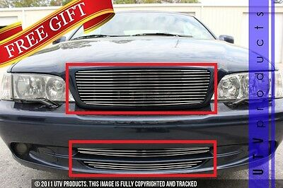 GTG Polished 3PC Replacement Billet Grille Grill Kit fits 1998 - 2004 Volvo C70